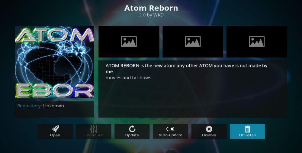 Atom Reborn Kodi Add-On