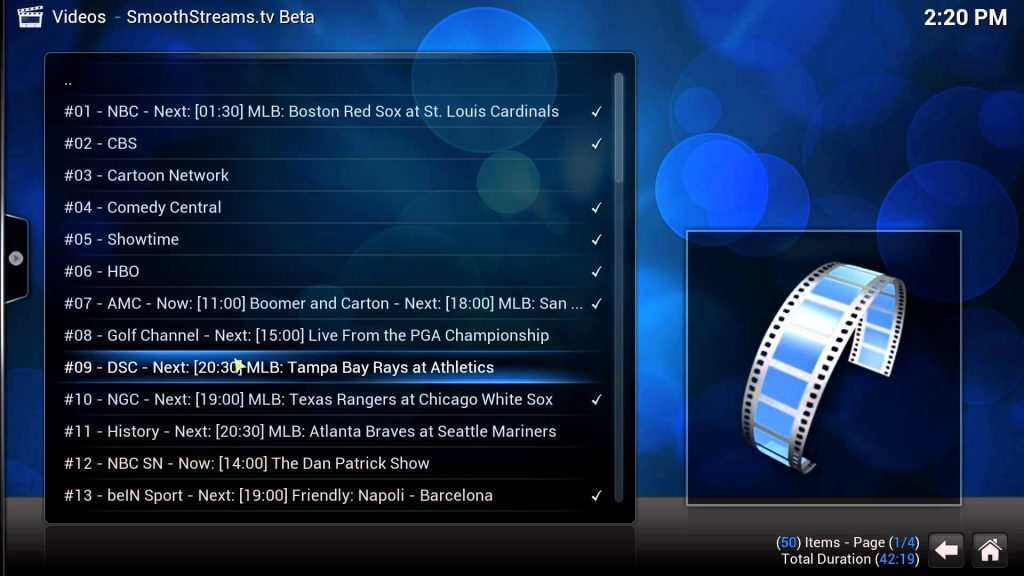 Smooth Streams Kodi Addon