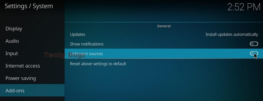 Steps to Set up Unknown Sources in Kodi