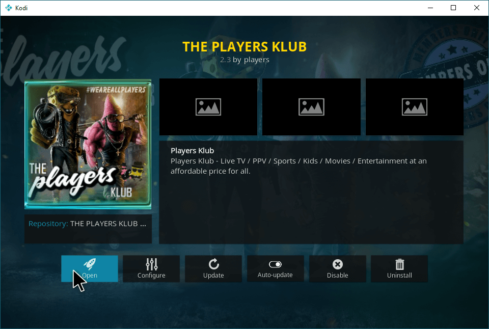 Players Klub Addon
