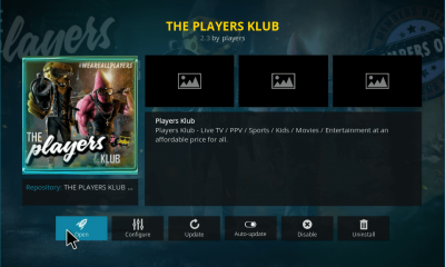 Players Klub Kodi Add-on