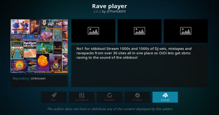 Rave Player Kodi Addon