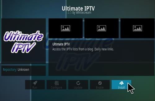 Ultimate IPTV Kodi Addon