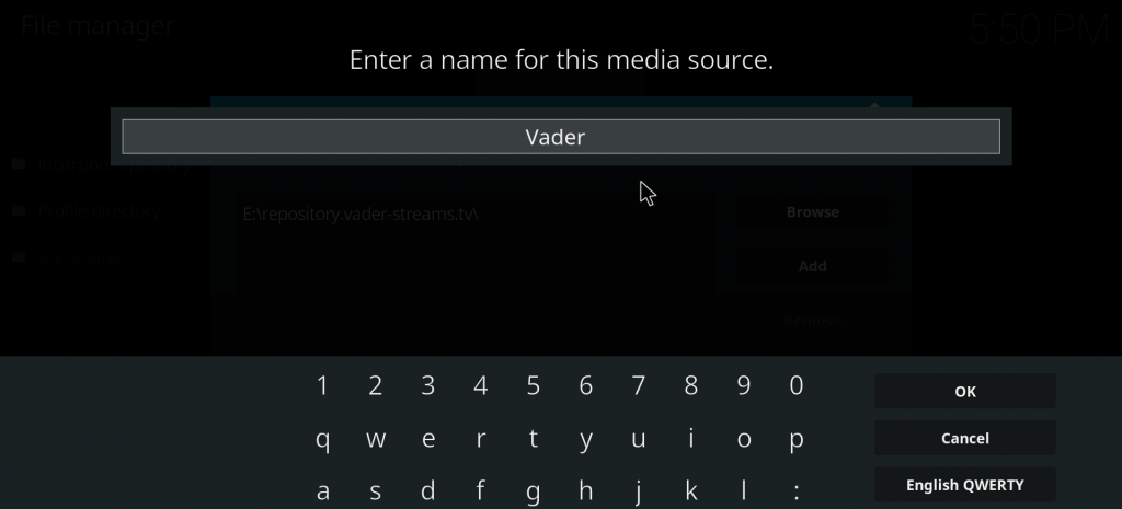 Vader Streams Kodi Addon - Installation Guide for Kodi 17 6