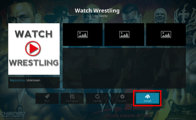Watch Wrestling Kodi Add-On