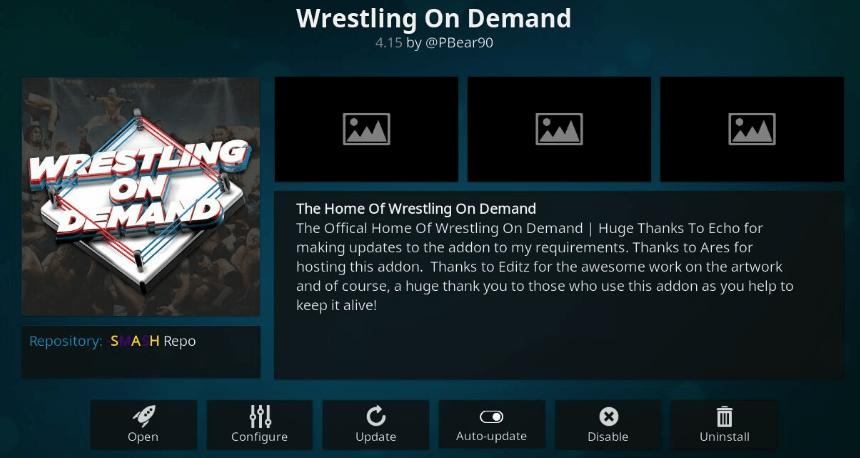 Wrestling On Demand Kodi Addon - Guide to Install Using Wod