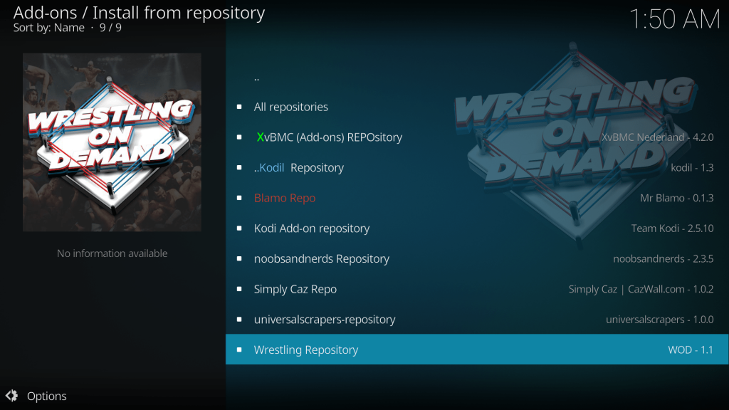 Wrestling On Demand Kodi Addon - Guide to Install Using Wod