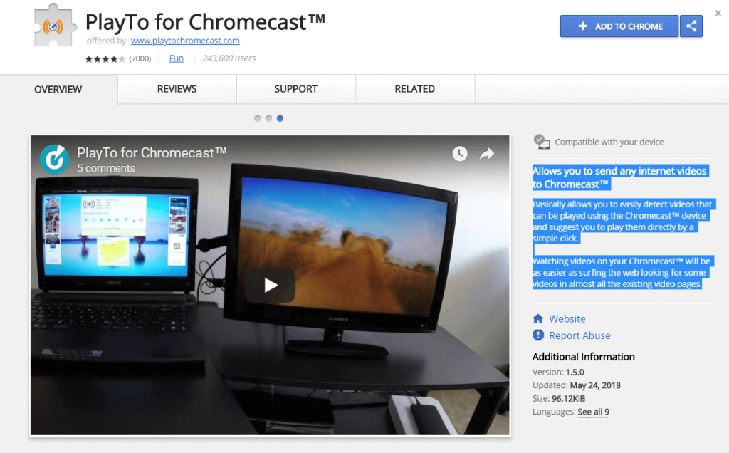 How to Install the Chromecast Extension