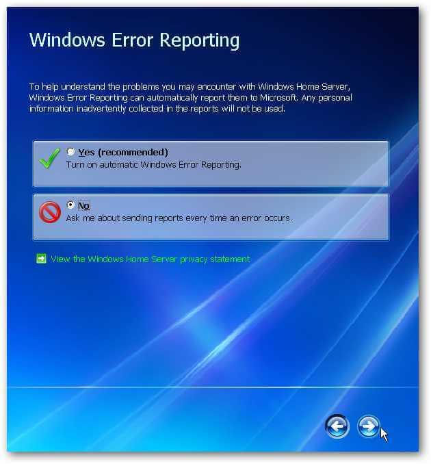 Windows Home Server Installation
