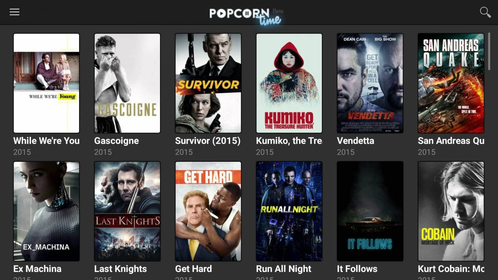 Popcorn Time on Smart TV