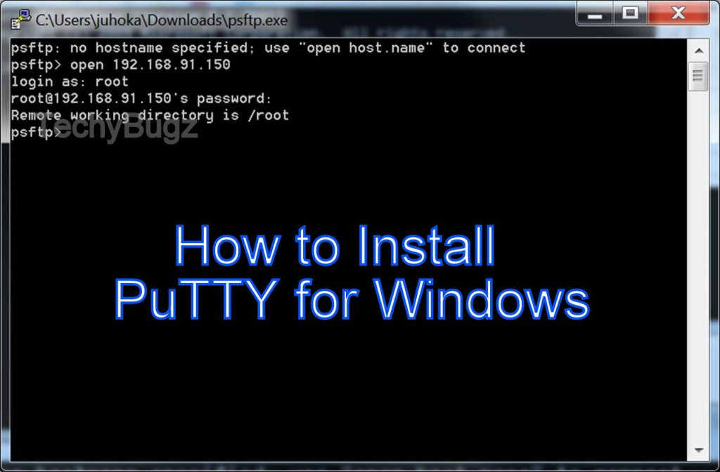 PuTTY for Windows