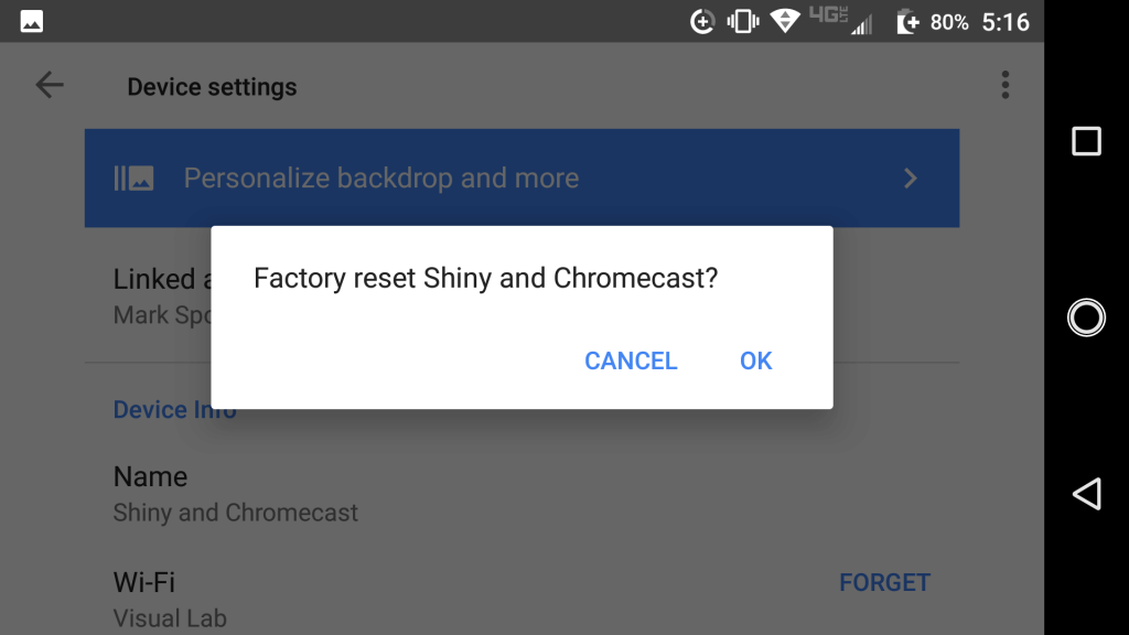 How to Factory ResetChromecast Dongle