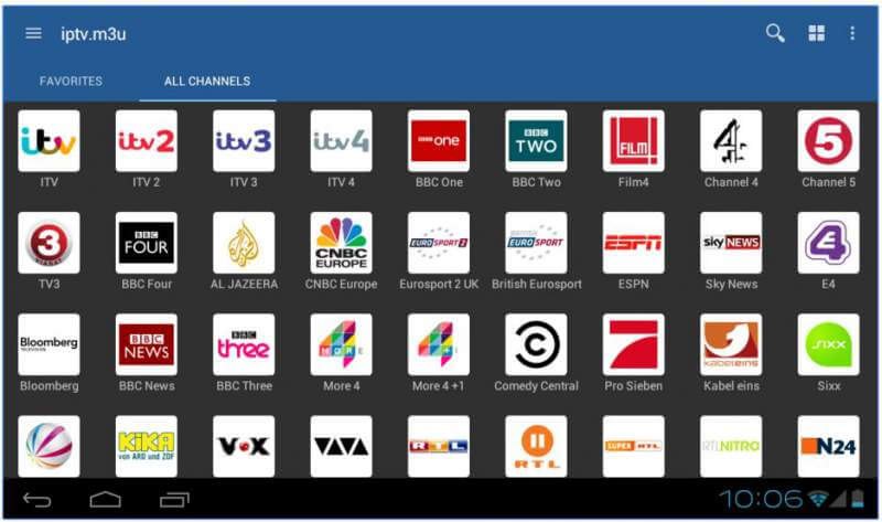 Features of IPTV for Android