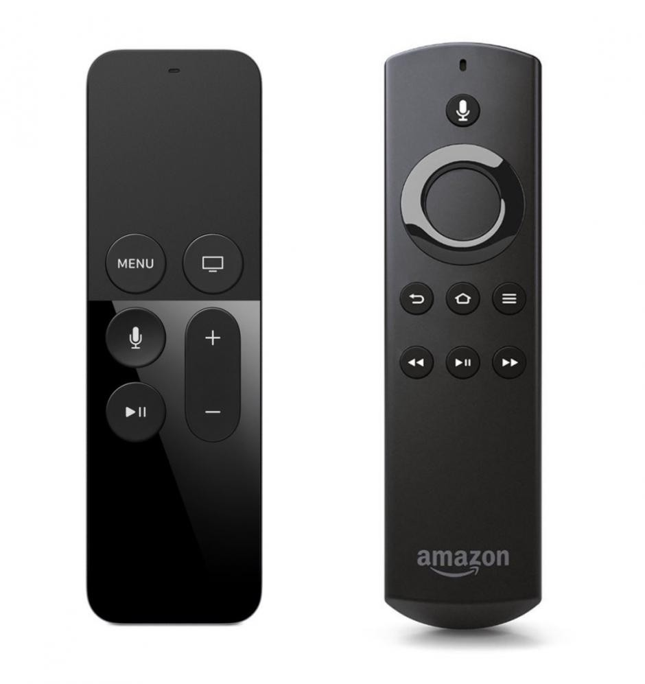 Apple TV and Amazon Fire TV: The remotes