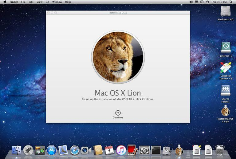 Version 10.7 Lion