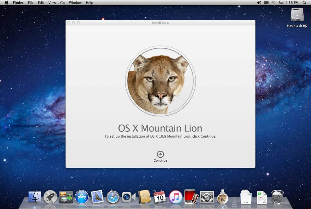 Version 10.8 Mountain Lion