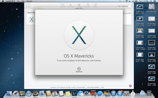 Version 10.9 Mavericks