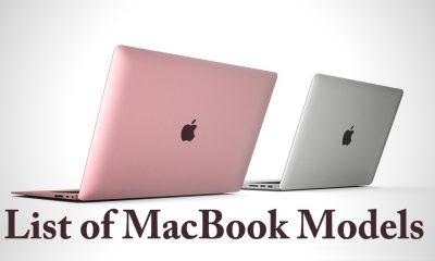 List of MacBook Models