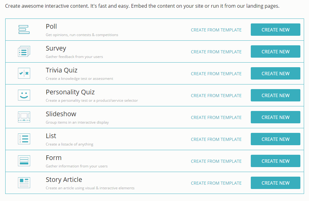 Create a Quiz using Opinion Stage