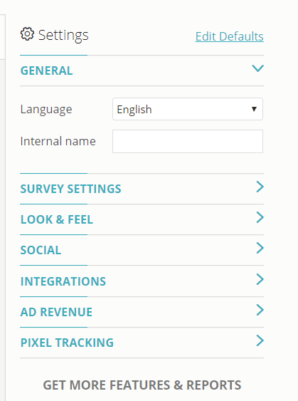 Create a Survey using Opinion Stage