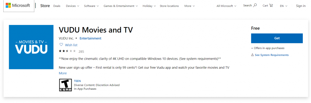 Vudu App - Watch Your Favourite Movies On The Go - Techy Bugz
