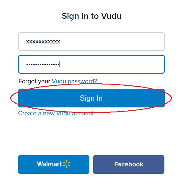 Vudu Sign In