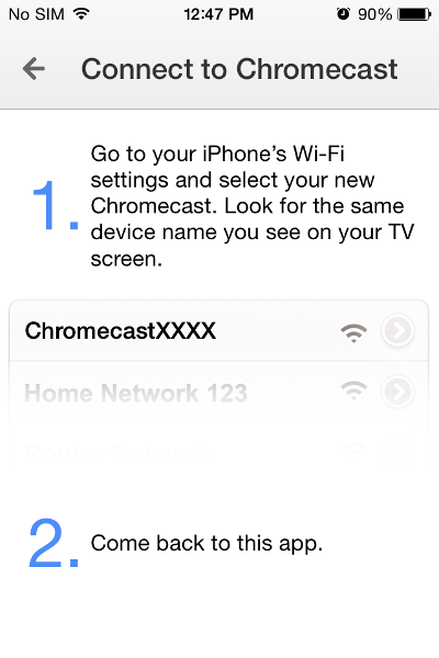 Chromecast on iPad