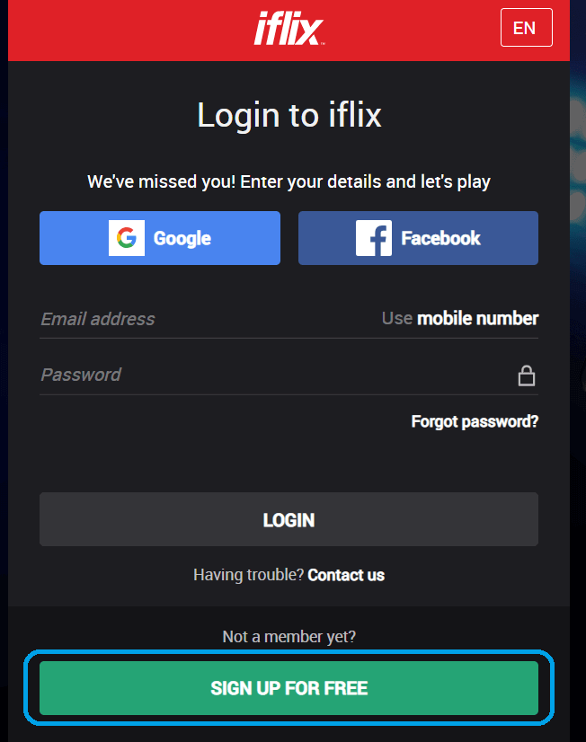 iFlix Login