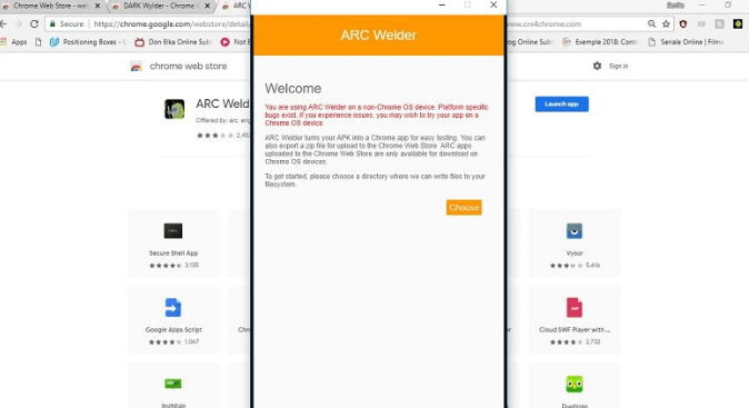 Install Arc Welder on Chrome