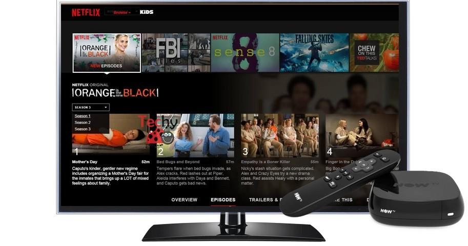 Netflix on Now TV Box